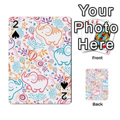 Cute pastel tones elephant pattern Playing Cards 54 Designs