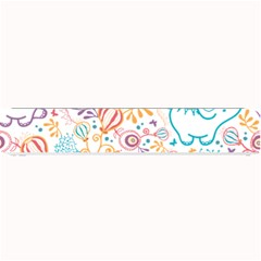 Cute Pastel Tones Elephant Pattern Small Bar Mats