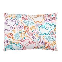 Cute Pastel Tones Elephant Pattern Pillow Cases