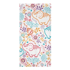 Cute pastel tones elephant pattern Shower Curtain 36  x 72  (Stall)
