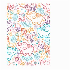 Cute Pastel Tones Elephant Pattern Large Garden Flag (two Sides)