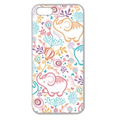 Cute pastel tones elephant pattern Apple Seamless iPhone 5 Case (Clear)