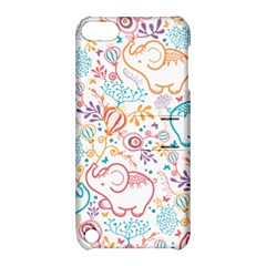 Cute pastel tones elephant pattern Apple iPod Touch 5 Hardshell Case with Stand
