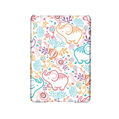 Cute pastel tones elephant pattern iPad Mini 2 Hardshell Cases