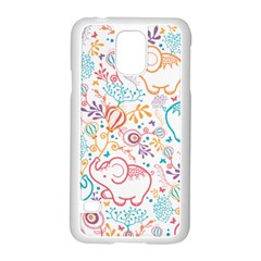 Cute pastel tones elephant pattern Samsung Galaxy S5 Case (White)