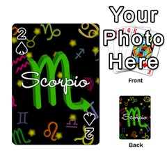 Scorpio Floating Zodiac Name Playing Cards 54 Designs