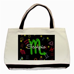 Scorpio Floating Zodiac Name Basic Tote Bag (Two Sides)