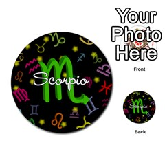 Scorpio Floating Zodiac Name Multi Purpose Cards (round)