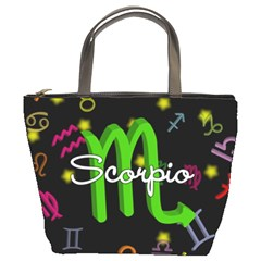 Scorpio Floating Zodiac Name Bucket Bags
