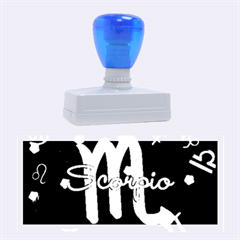 Scorpio Floating Zodiac Name Rubber Stamps (large)