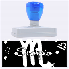 Scorpio Floating Zodiac Name Rubber Address Stamps (xl)