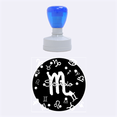 Scorpio Floating Zodiac Name Rubber Round Stamps (medium)