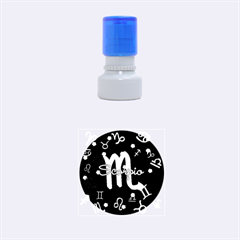 Scorpio Floating Zodiac Name Rubber Round Stamps (Small)