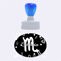 Scorpio Floating Zodiac Name Rubber Oval Stamps