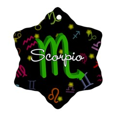 Scorpio Floating Zodiac Name Snowflake Ornament (2-Side)