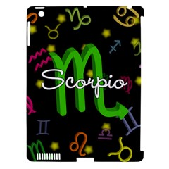 Scorpio Floating Zodiac Name Apple iPad 3/4 Hardshell Case (Compatible with Smart Cover)