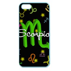 Scorpio Floating Zodiac Name Apple Seamless iPhone 5 Case (Color)