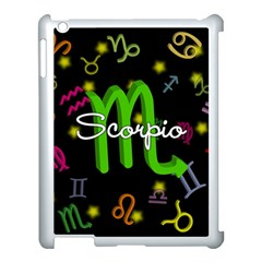 Scorpio Floating Zodiac Name Apple iPad 3/4 Case (White)