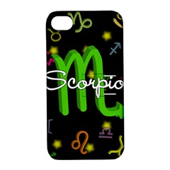 Scorpio Floating Zodiac Name Apple iPhone 4/4S Hardshell Case with Stand