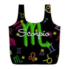 Scorpio Floating Zodiac Name Full Print Recycle Bags (L)