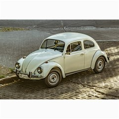 Classic Beetle Car Parked On Street Collage 12  X 18
