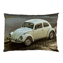 Classic Beetle Car Parked On Street Pillow Cases