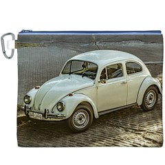 Classic Beetle Car Parked On Street Canvas Cosmetic Bag (XXXL)