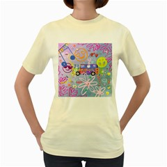 Summer Of Love   The 60s Women s Yellow T-Shirt