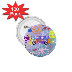 Summer Of Love   The 60s 1.75  Buttons (100 pack)