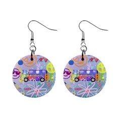 Summer Of Love   The 60s Mini Button Earrings