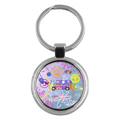 Summer Of Love   The 60s Key Chains (Round)