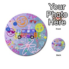 Summer Of Love   The 60s Multi-purpose Cards (Round)