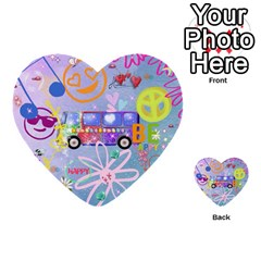Summer Of Love   The 60s Multi Purpose Cards (heart)