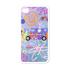 Summer Of Love   The 60s Apple iPhone 4 Case (White)
