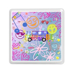 Summer Of Love   The 60s Memory Card Reader (square)
