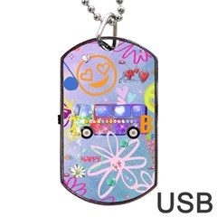 Summer Of Love   The 60s Dog Tag USB Flash (One Side)