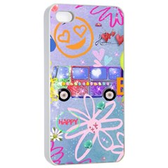 Summer Of Love   The 60s Apple iPhone 4/4s Seamless Case (White)