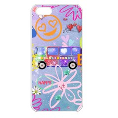 Summer Of Love   The 60s Apple iPhone 5 Seamless Case (White)