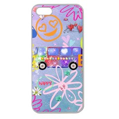 Summer Of Love   The 60s Apple Seamless iPhone 5 Case (Clear)
