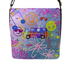 Summer Of Love   The 60s Flap Messenger Bag (L)