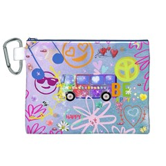 Summer Of Love   The 60s Canvas Cosmetic Bag (XL)