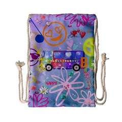 Summer Of Love   The 60s Drawstring Bag (Small)