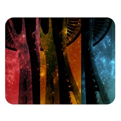 Colorful Space Needle Double Sided Flano Blanket (large)