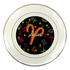 Aries Floating Zodiac Sign Porcelain Plates