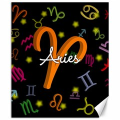 Aries Floating Zodiac Sign Canvas 8  x 10