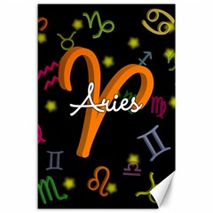 Aries Floating Zodiac Sign Canvas 24  x 36