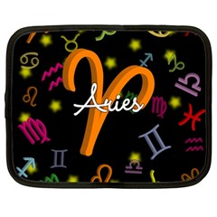 Aries Floating Zodiac Sign Netbook Case (Large)