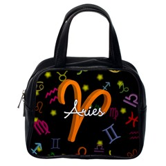Aries Floating Zodiac Sign Classic Handbags (One Side)