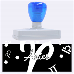 Aries Floating Zodiac Sign Rubber Address Stamps (XL)
