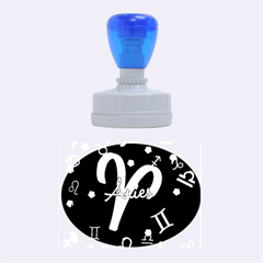 Aries Floating Zodiac Sign Rubber Oval Stamps